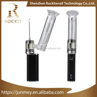 Electronic cigarette pyrex oil burner glass pipes Rockit quartz enail bubbler