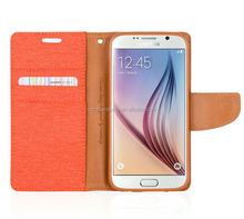 mercury goospery canvas diary wallet leather case, tpu cover case for samsung galaxy s4 i9500