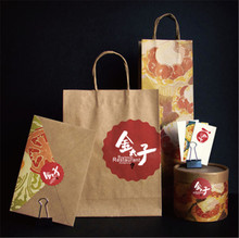 Cheap kraft paper new design folding shopping bag