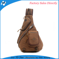 Cross Body Sling Bag, Canvas One Strap Shoulder Backpacks Bag