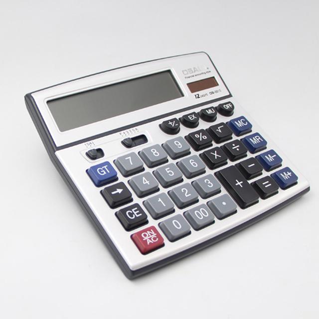 OSALO OS-8815 12 digits calculator double display calculator square
