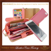 Fashionable wallet detachable magnet leather case for iphone 4 5 6 wholesale