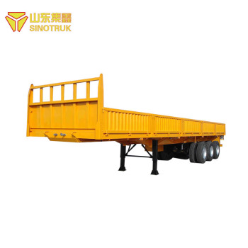 Hot sale popular China made sinotruk howo lowbed cargo semi trailer price