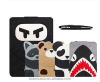 "BUBM 2016 lovely animal soft Wool felt laptop sleeve for macbook pro 13"" 15"" retina,for macbook sleeve,laptop bag sleeve"