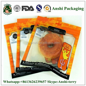 Food grade custom printing clear compound PET PE plastic packaging bag pouch with zip lock