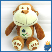 Forest Animal Soft Plush Baby Toys Brown Big Mouth Monkey