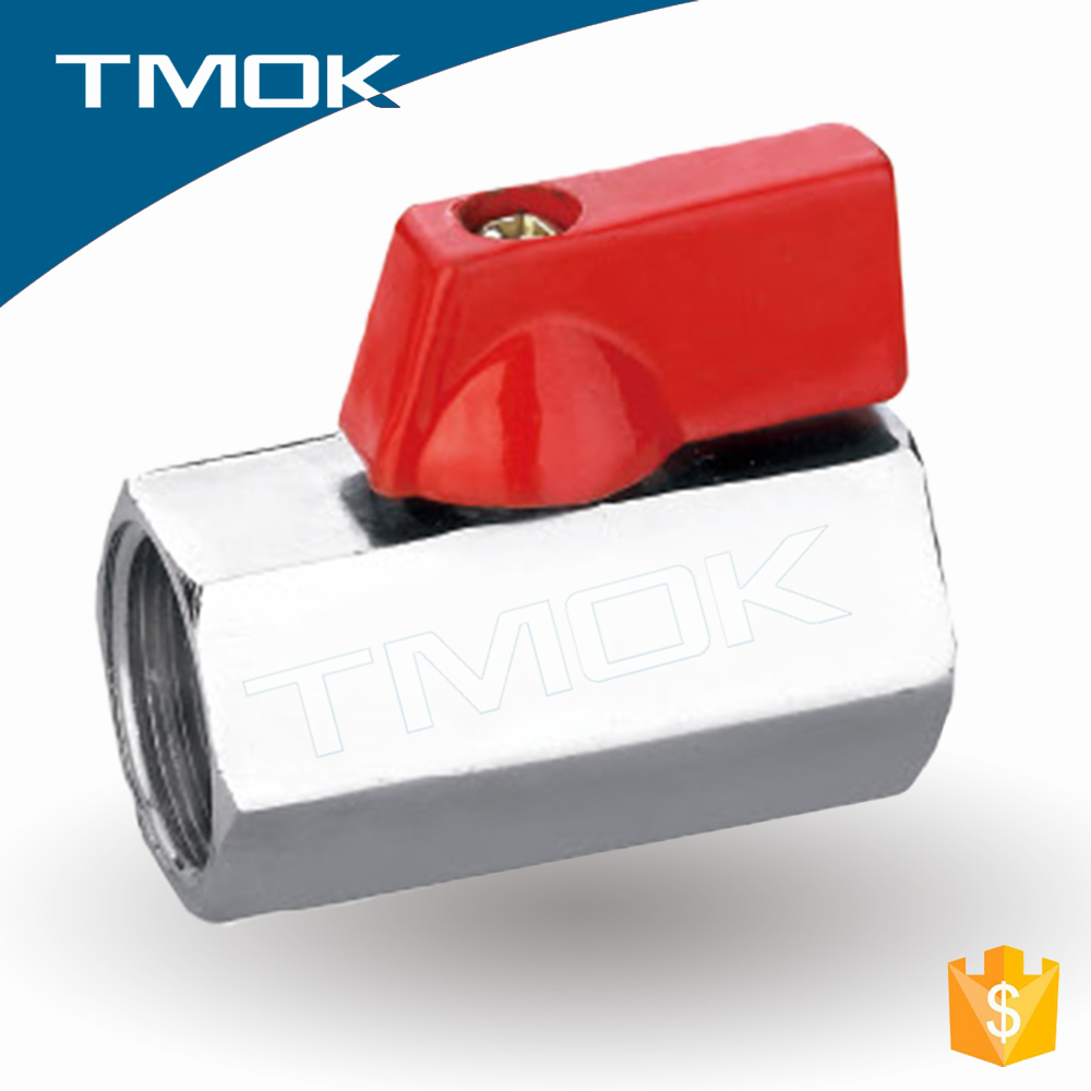 TMOK mini brass ball valve manufacturers double sealed for <strong>gas</strong> and brass mini ball valve chrome plated