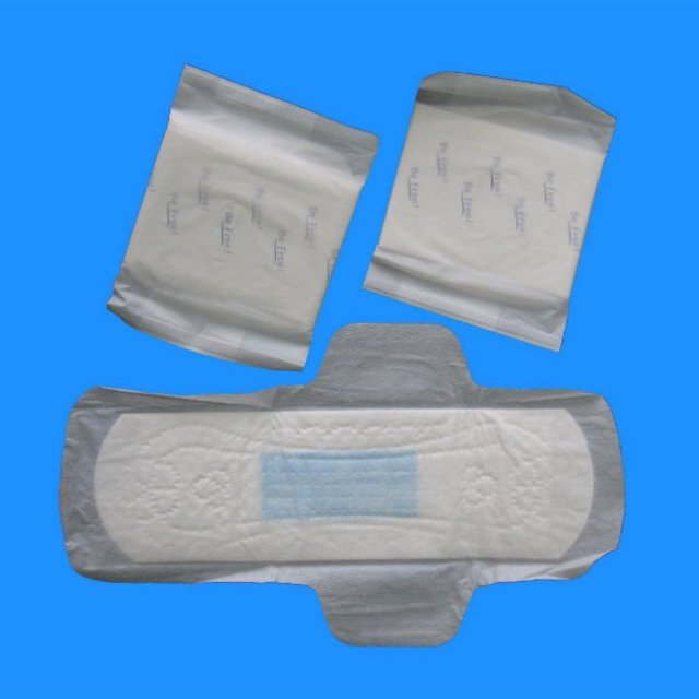 hygienic blue incored pads with ultra thin style