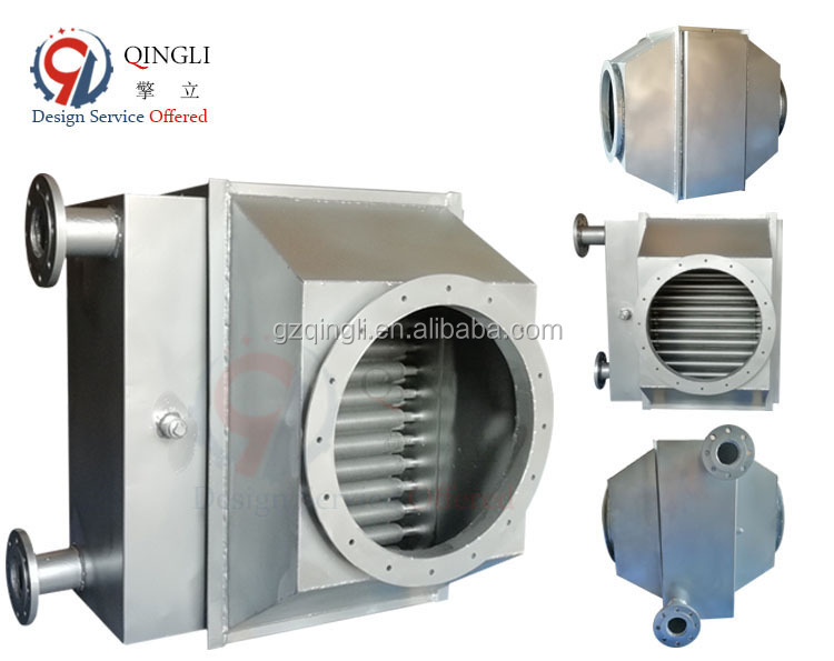 Anti-corrosion steel waste heat recovery device exhaust gas heat exchanger