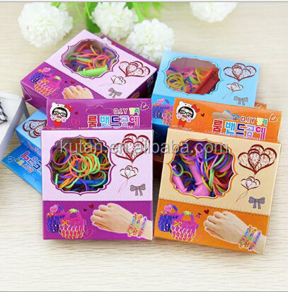 High quality promotional customized silicone rainbow bracelet looms