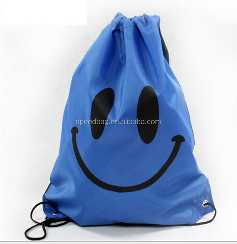 Smile Face Drawstring Mochila Swimming Cartoon Kids waterproof-in School Bags backpack