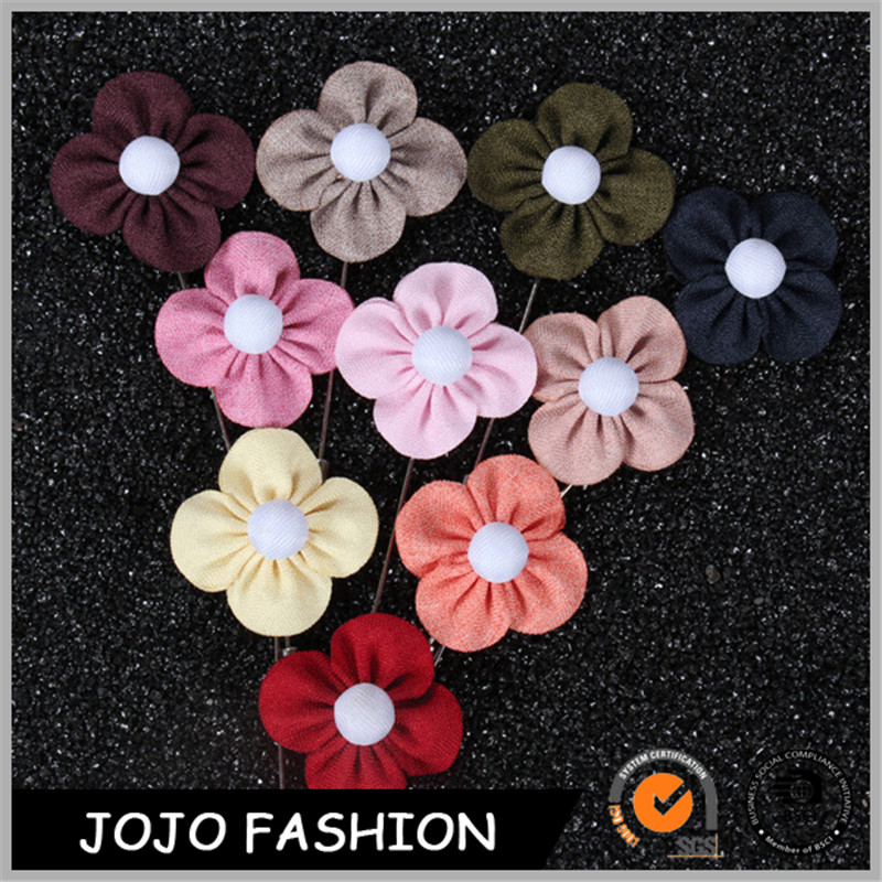 Factory direct sale custom fabric metal pin holders flower