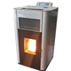 China suppliers electrical pellet burning fireplace heater stove