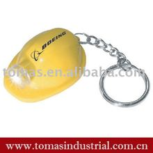 helmet shape led light key chain promotional gift