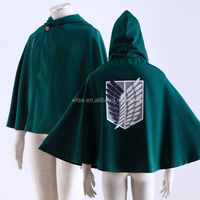 Attack on Titan Cosplay Shingeki no Kyojin Survey Corps Eren Yeager Rivaille Hoodie Cape Wings of Freedom Cosplay Costume Cloak