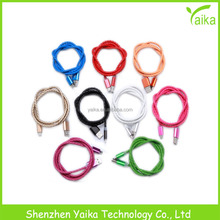 Yaika New Arrival Fashion Leather Usb Cable Data Micro USB Transfer And Charging Cable For Samsung Smart Phones Tablets