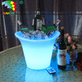 Rechargeable Plastic LED Ice Bucket Color Changing Bars Nightclubs LED Light Up Ice Bucket Champagne Beer Bucket