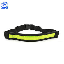 hi vis flashing glowing reflective sport waist belt with LED light for running