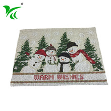 Alibaba suppliers best tapestry woven colorful table mats christmas placemat