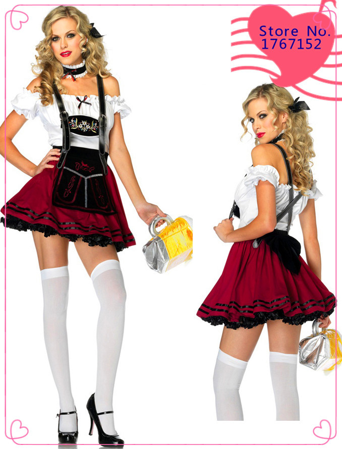 New Beer Girl Costumes beer maid service game ,halloween costumes,party dress