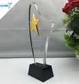 Wholesale In Stock Design Crystal Star Plaque Trophy Award