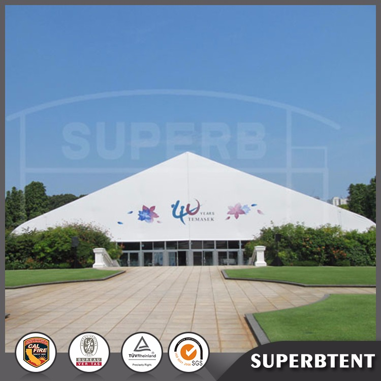 Aluminum Curve Roof Sport Tent for Racing/Basketball/ Horse Riding/ Badminton/Tennis Ball
