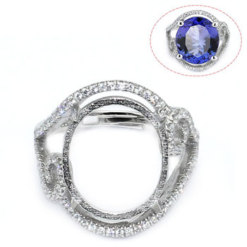 Beadsnice ID30629 925 silver setting removable adjustable US ring size 7 to 9 15.5x13.5x3.5mm sold by PC men rings