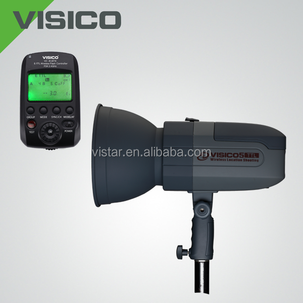 1/8000s HSS Portable VISICO 5 400W battery wireless TTL studio flash photo equipment for location shoot