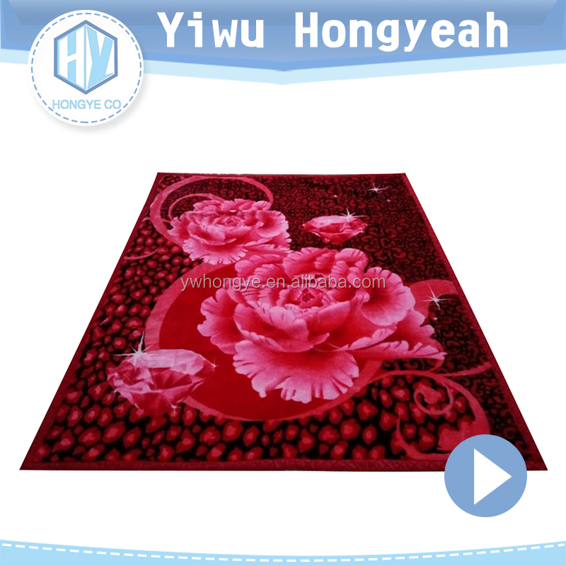 China manufacture suppliers 100% Polyester Cute Printed blanket