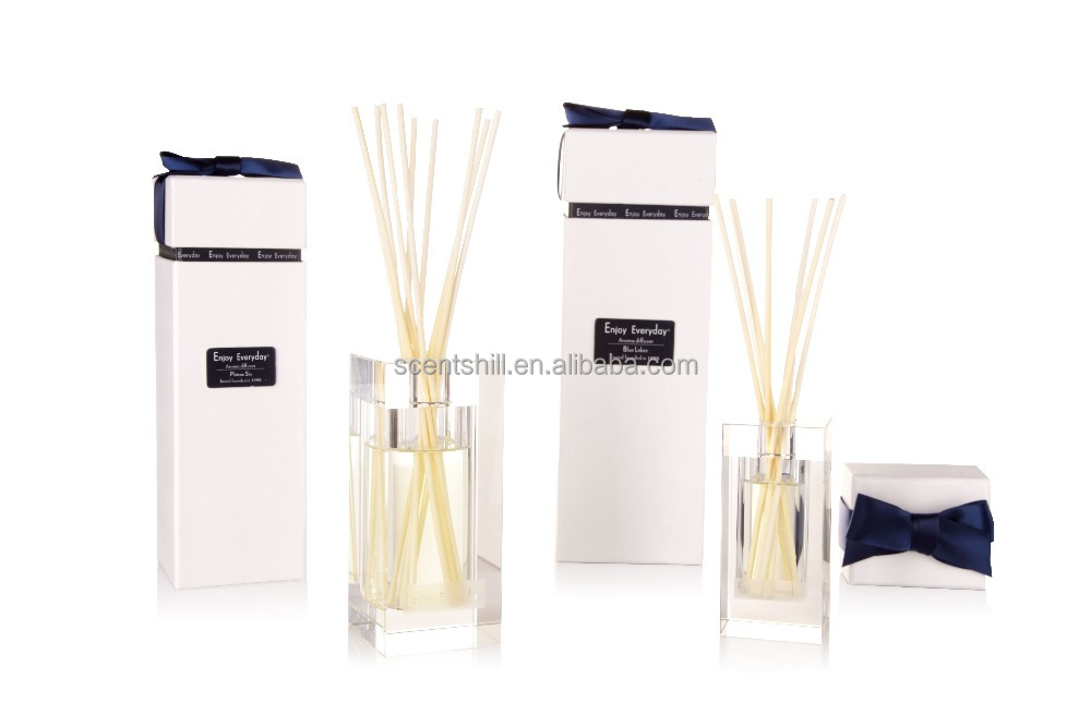 OEM 2016 luxury sweet Stocked,Eco-Friendly Feature and Liquid Shape decorative glass bottle reed diffuser