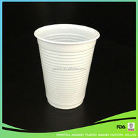 Disposable White Plastic Drinking cup