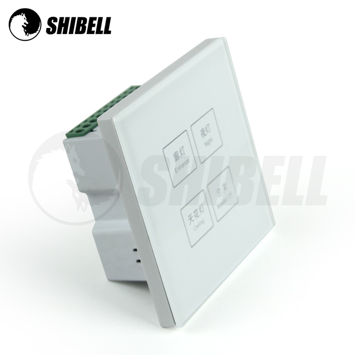 SHIBELL Crystal Metal Switches and touch screen light wall switch board