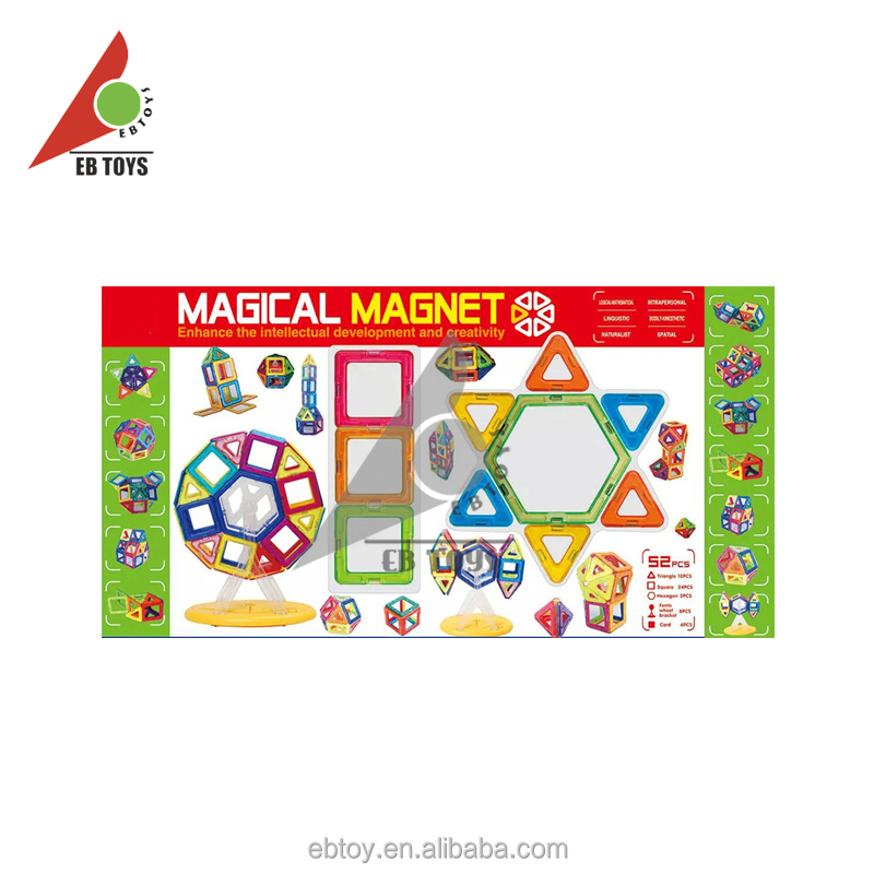 Fashionable kids toy enhance the intellectual development and creativity wisdom magnetic toys