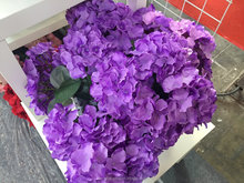 Hot Sale Various hydrangea flower artificial wedding bouquet wall decoration