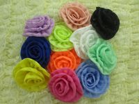 Wholesale New Neon Rolled Rose Flower For Hair Accessories