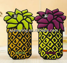 Hot sell Fruit silicone case for iphone 5 pineapple designed