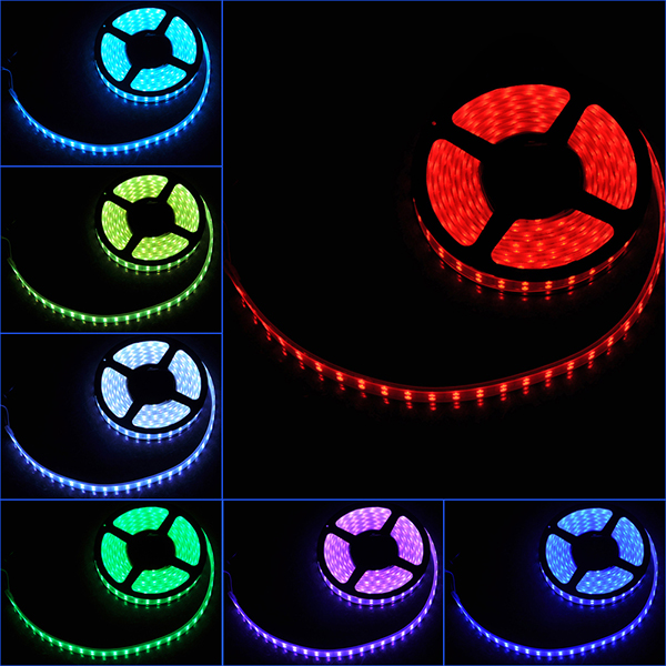 Top Quality 5m smd 5050 3528 rgb 300 waterproof led strip ir remote