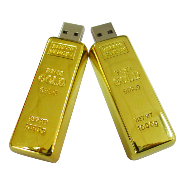 new products cheap novelty luxurious gold bar usb flash drive 2gb