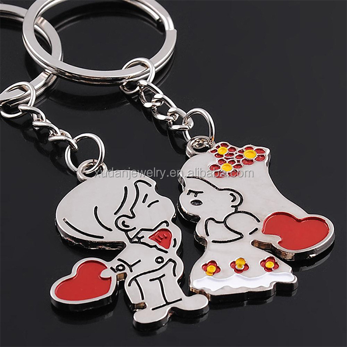 New York Couple Keychain Love You