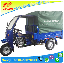 Three wheel dumper motorcycle 1.2M*1.6M with mask and rear tent for passenger and cargo tricycle