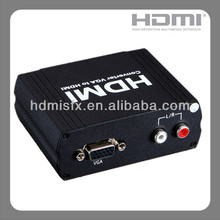אודיו vga ל hdmi hd-hdtv video converter box 1080 p