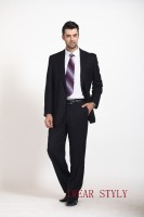 stripe notch lapel business men's suits