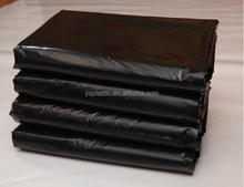 Star sealed plastic black large size garbage bags on roll,flat trash liner hospital and hotel supplies