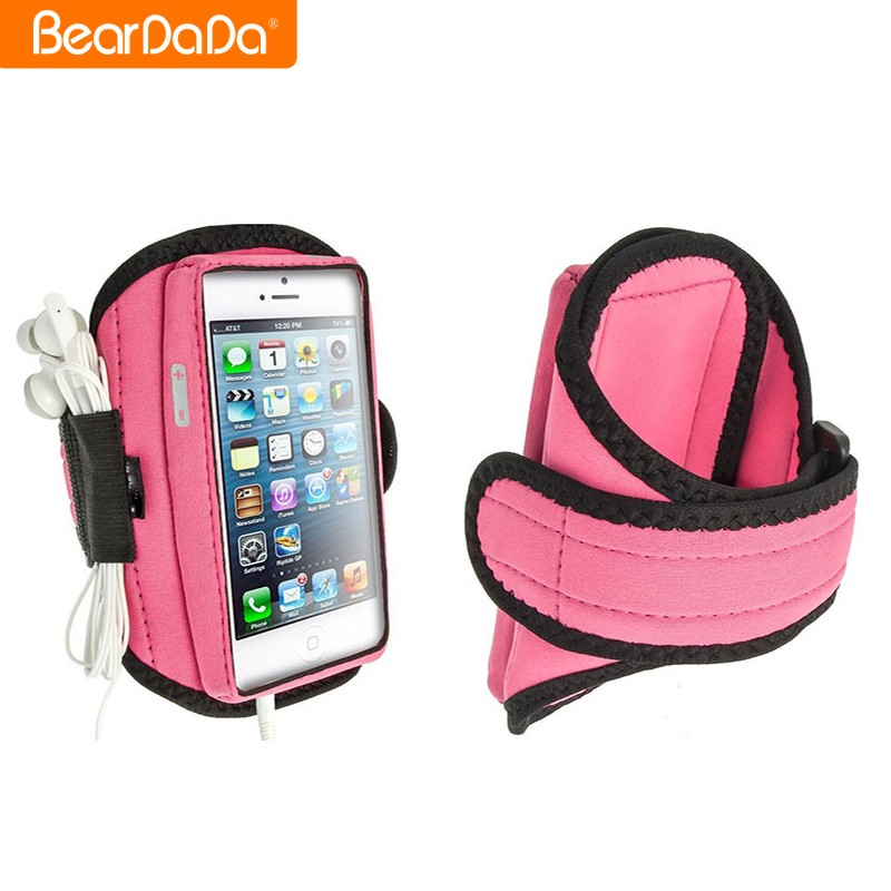 Professional made pink for iphone armband