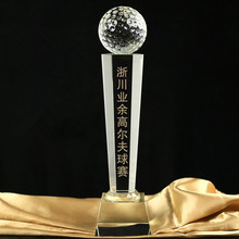 Factory price modern fashion replica trophy champions league mirror ball golf trophy