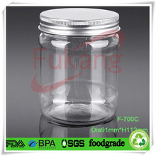 food grade pet plastic bottles, 700 ml pet jar with aluminum cap