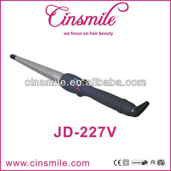 Hair curling iron professional LCD for temperature hair curler JD-227V