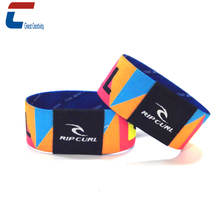 Full color dye-sublimation printing nfc elastic wristband rfid stretch fabric wristband for access control