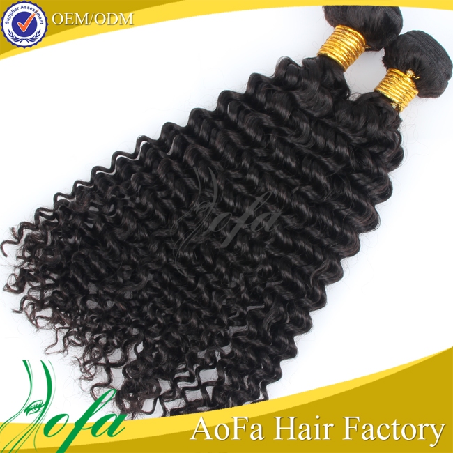 China Wholesale price brazilian virgin hair double drawn, deep wave double drawn hair extension