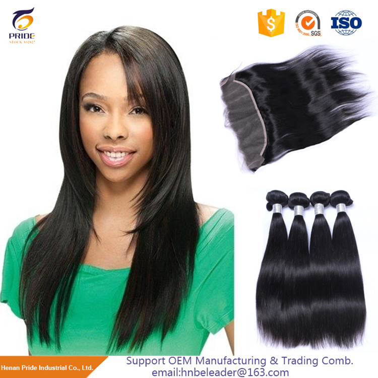 China cheap 100g straight human hair ponytail 1# color